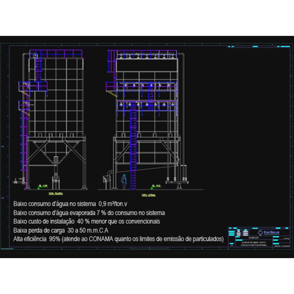 Lavador de Gases - Mod.: Câmara retangular